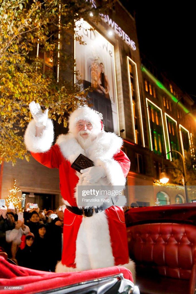 Santa Claus During The KaDeWe Berlin Celebrates Christmas Gallery Opening At On November 14