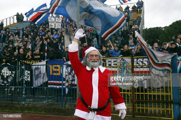 Santa Claus during the Serie A match between Empoli and UC Sampdoria at Stadio Carlo Castellani on December 22 2018 in Empoli Italy