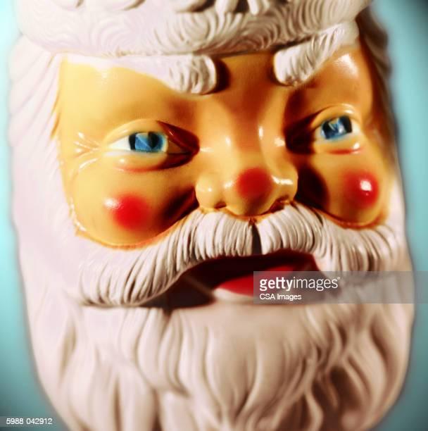 santa claus face - santa face stock photos and pictures
