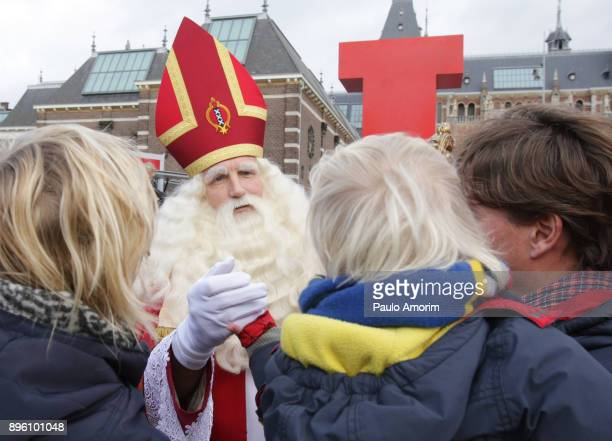 Santa Claus Greets Fans in Amsterdam
