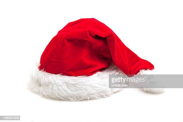 Santa Claus hat ona  a white background
