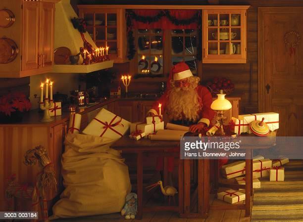 Santa Claus in Kitchen