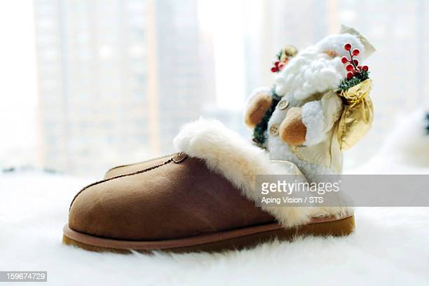 Santa Claus in shoes