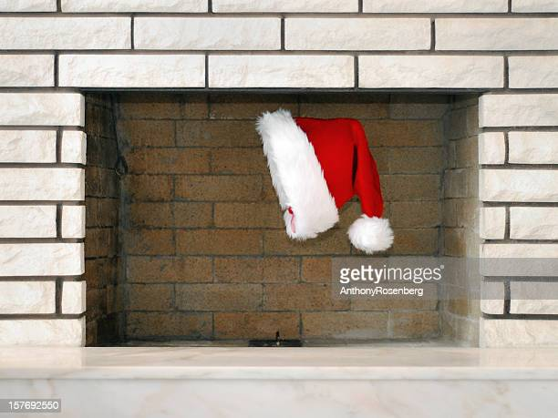 Santa Claus in the chimney