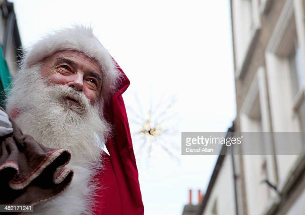 Santa Claus in the street