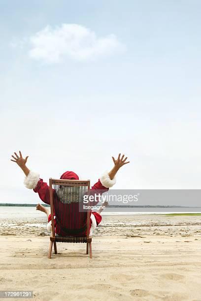 Santa Claus im Urlaub