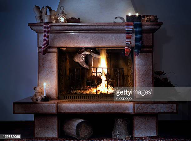Santa Claus est coming. dans le feu