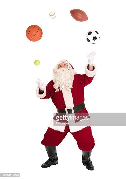 Santa Jonglier-Bälle-Sport-Serie