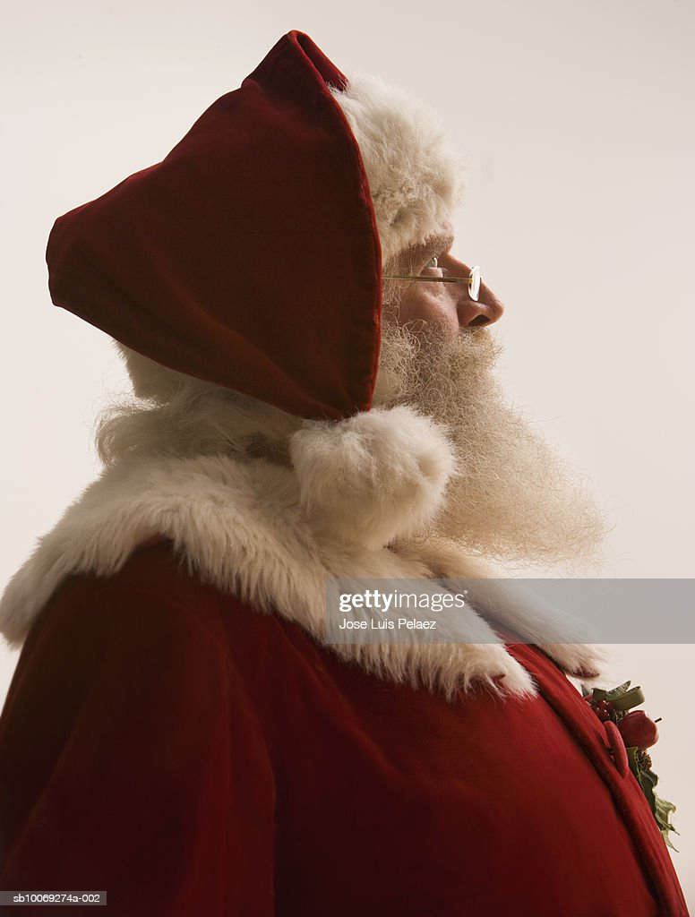 Santa Claus looking away, close-up : Stockfoto