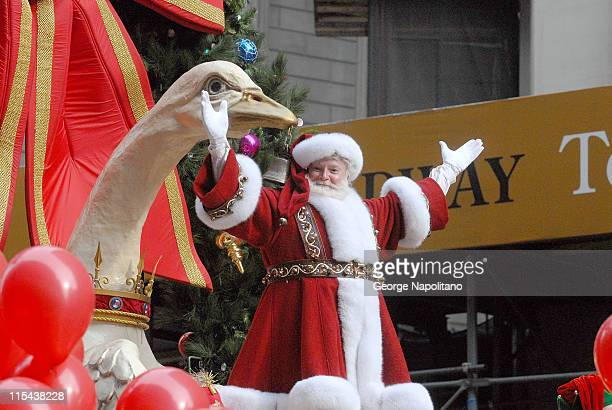Santa Claus makes an appearance at the Macy's Thanksgiving Day Parade in New York City on November 22 2007