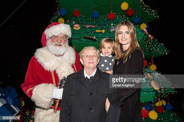 Santa Claus, Mica Katic, Sophia Katic, and actress Stana Katic of Castle appear at LEGOLAND California Resort's 14th Annual Tree Lighting Ceremony at...