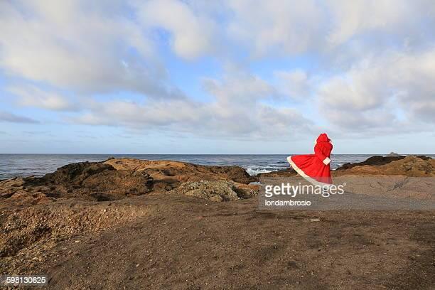 Santa Claus on the rocks