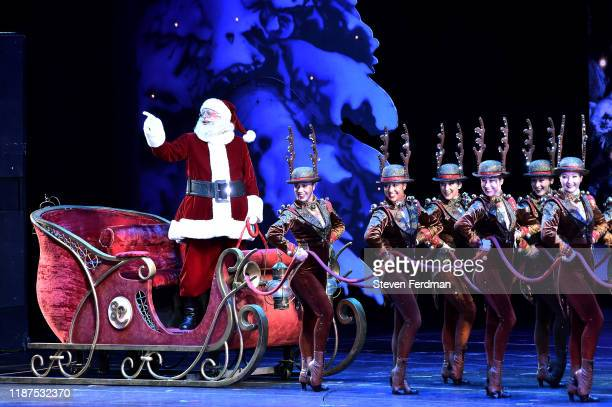 Santa Claus performs onstage during the opening night of the 2019 Christmas Spectacular Starring The Radio City Rockettes at Radio City Music Hall on...