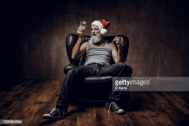 santa claus - pere noel humour photos et images de collection