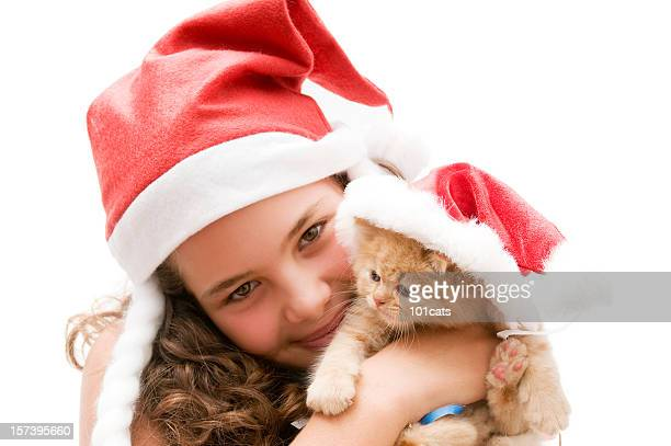 santa claus - persian girl stock photos and pictures