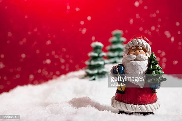 santa claus - fake snow stock pictures, royalty-free photos & images