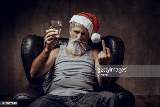 santa claus - binge drinking stock photos and pictures