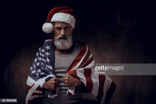 santa claus - patriotic christmas stock pictures, royalty-free photos & images