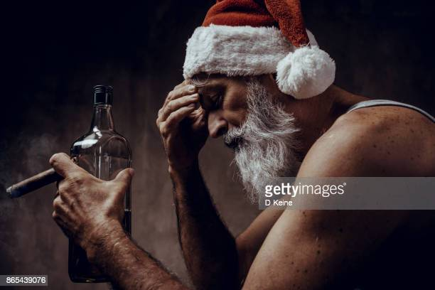 santa claus - dirty santa stock pictures, royalty-free photos & images