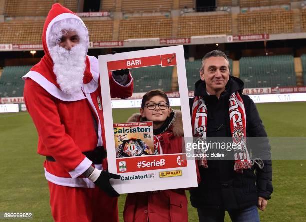 Santa Claus prior the Serie B match between FC Bari and Parma Calcio at Stadio San Nicola on December 21 2017 in Bari Italy
