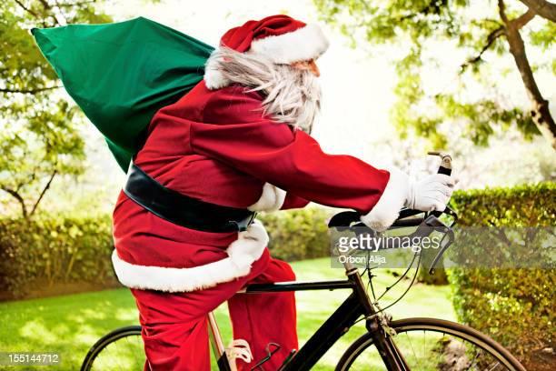 Weihnachtsmann Reiten Fahrrad