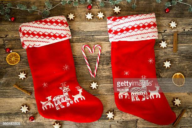Santa Claus shoes with christmas deko