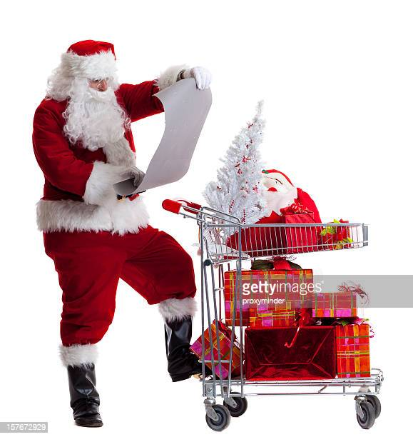 Santa Claus Shopping with wish list