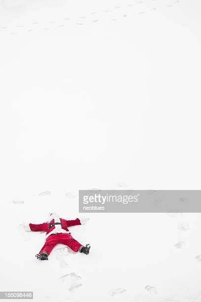 Santa Claus-Schnee-Engel