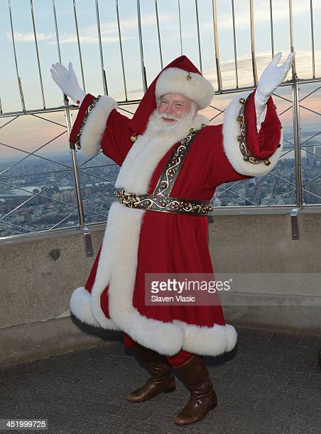 Santa Claus visits The Empire State Building on November 25 2013 in New York City