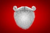 Santa Claus White Mustache and Spade Beard