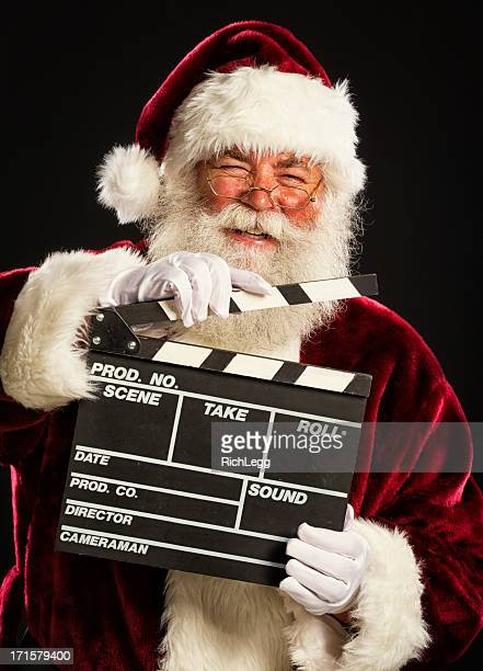 Santa Claus with a Movie Slate