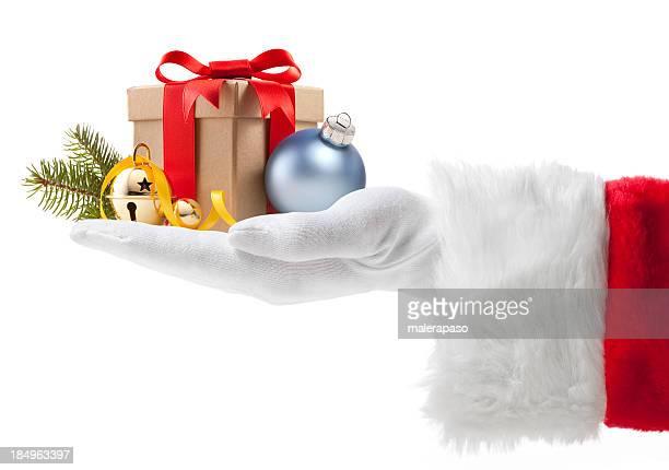 Père Noël avec cadeau de Noël