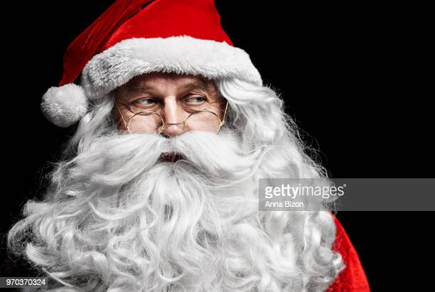 santa claus with exhausted and sad expression. debica, poland - lazy poland stock photos and pictures