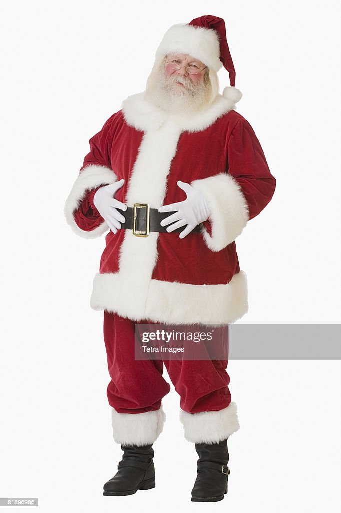 Santa Claus with hands on belly : Stock Photo