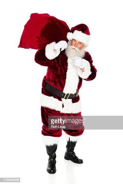 サンタクロース、彼の袋