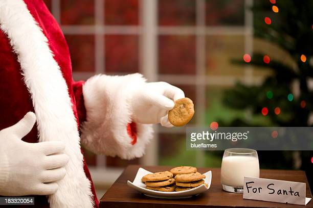 Santa Clause and cookies