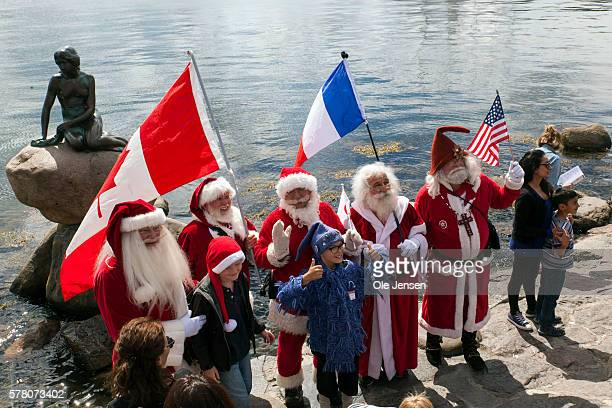 Santa Claus's from around the world gather this week at The World Santa Claus Congress in Copenhagen Denmark on July 18 2016 On the photo Santa's...