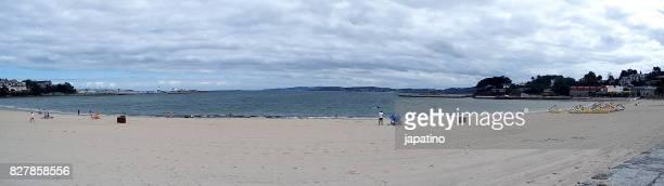 Santa Cristina Beach. Wild beaches on the Coasts of Galicia