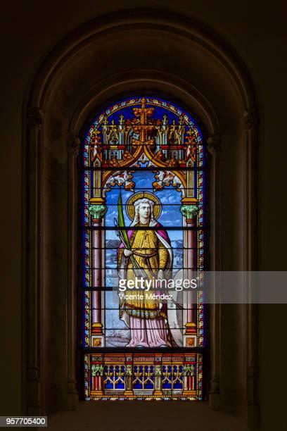 Santa Cristina - Vidriera de la Iglesia de San Jerónimo el Real (Los Jerónimos)