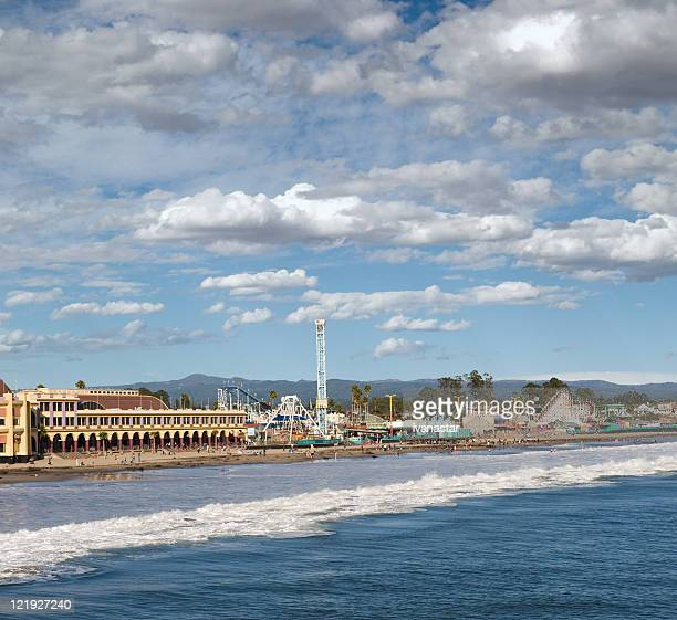 santa cruz boardwalk, california - boardwalk stock pictures, royalty-free photos & images