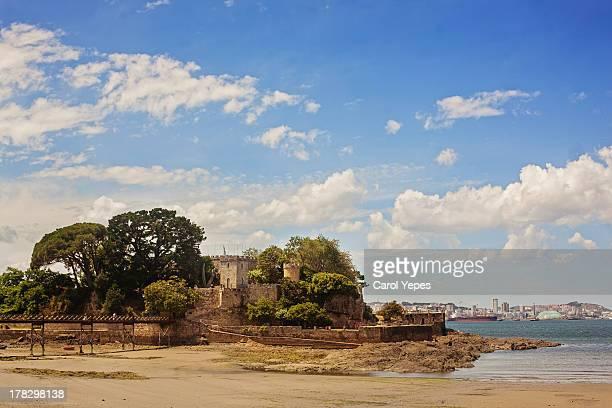 """ santa cruz castle"" - a coruna stock pictures, royalty-free photos & images"