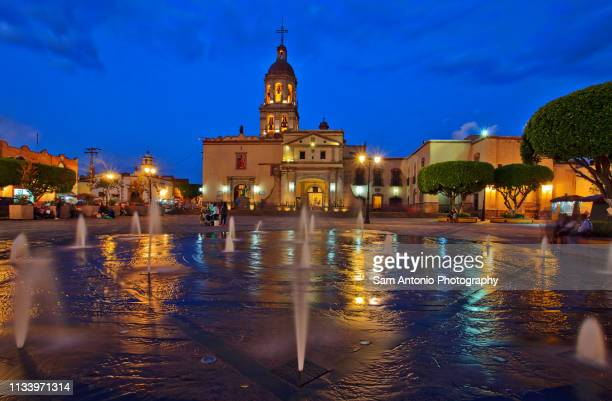 santa cruz temple and convent in queretaro, mexico - queretaro state stock pictures, royalty-free photos & images