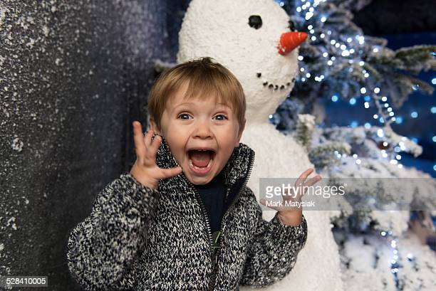 santa excitement - grotto stock pictures, royalty-free photos & images