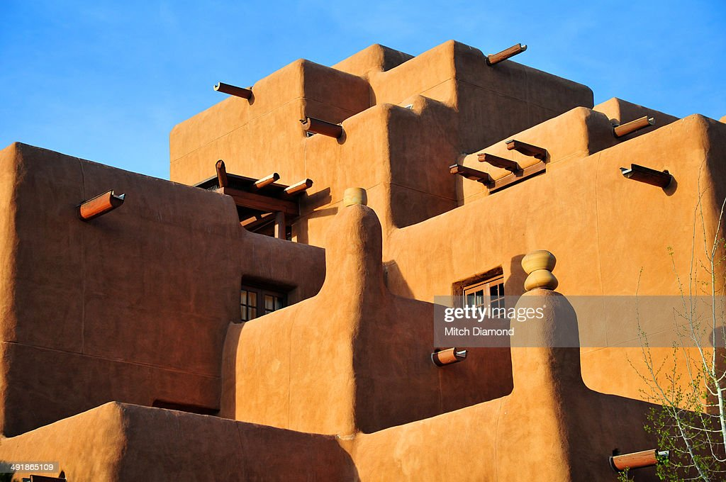 Santa Fe adobe architecture : Stock Photo