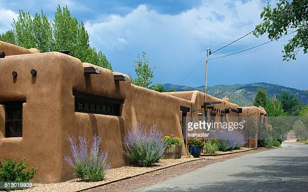 Santa Fe Adobe Houses on Upper Canyon Road