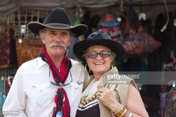 2013 Santa Fe Indian Market: Senior Market-Goers in Costumes