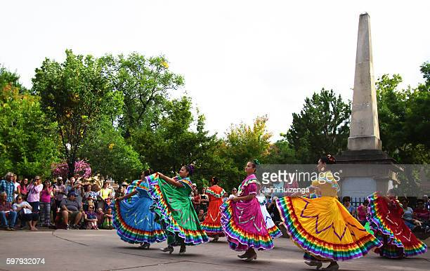 Santa Fe, NM: Folk Dancers on the Historic Downtown Plaza