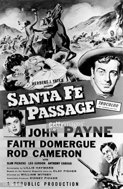 Santa Fe Passage poster John Payne Faith Domergue Rod Cameron 1955