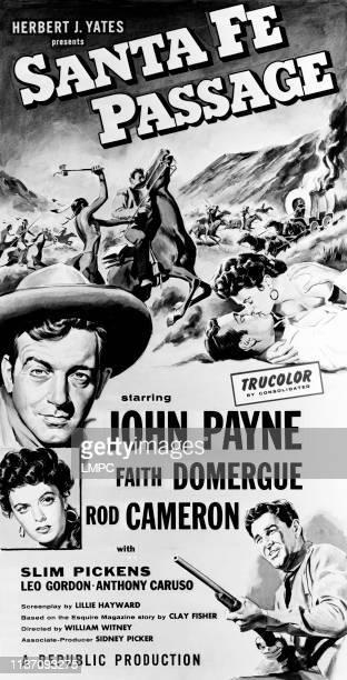 John Payne Faith Domergue Rod Cameron 1955
