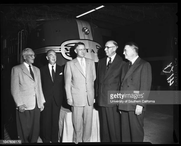 Santa Fe tour of Central Manufacturing District 25 May 1954 CJ Doherty Fred G Gurley Mayor Norris PoulsonVH Rossetti Lauren H Conley Durwood R...